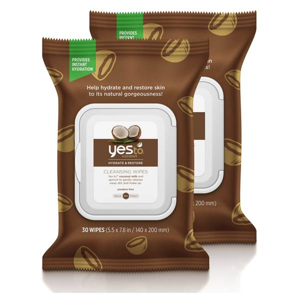 yes to Coconut Cleansing Wipes (Pack of 2)