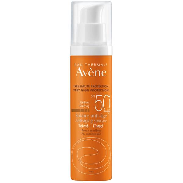 Avène Very High Protection Anti-Ageing Tinted SPF50+ Sun Cream for Sensitive Skin 50ml