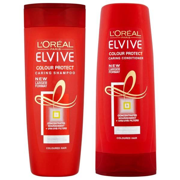 L'Oréal Paris Elvive Colour Protect Shampoo and Conditioner Set - Exclusive