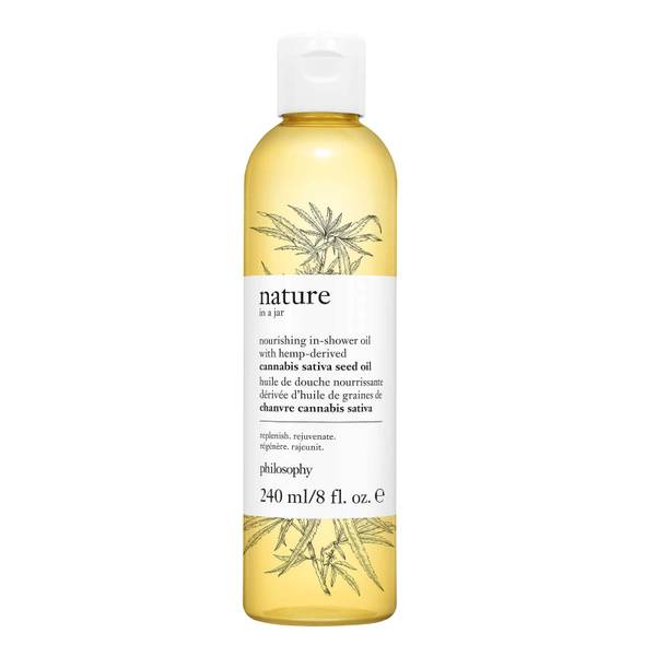 philosophy Nature in a Jar Nourishing In-Shower Oil with Hemp-Derived Cannabis Sativa Seed Oil 240ml