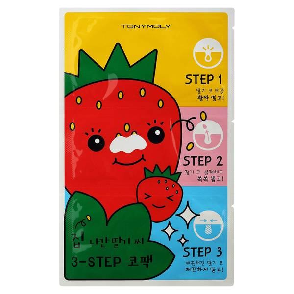 TONYMOLY Runaway Strawberry Seeds 3 Step Nose Pack6g