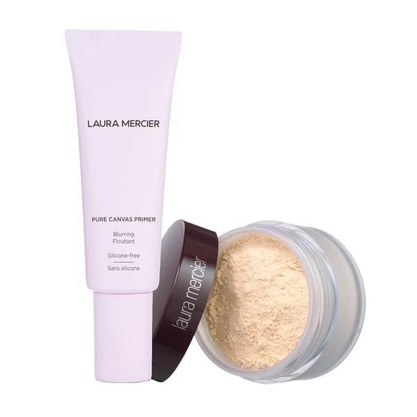 Laura Mercier Pure Canvas Primer- Blurring and Translucent Loose Setting Powder (Various Shades)