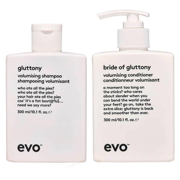evo Gluttony Volumising Shampoo and Conditioner