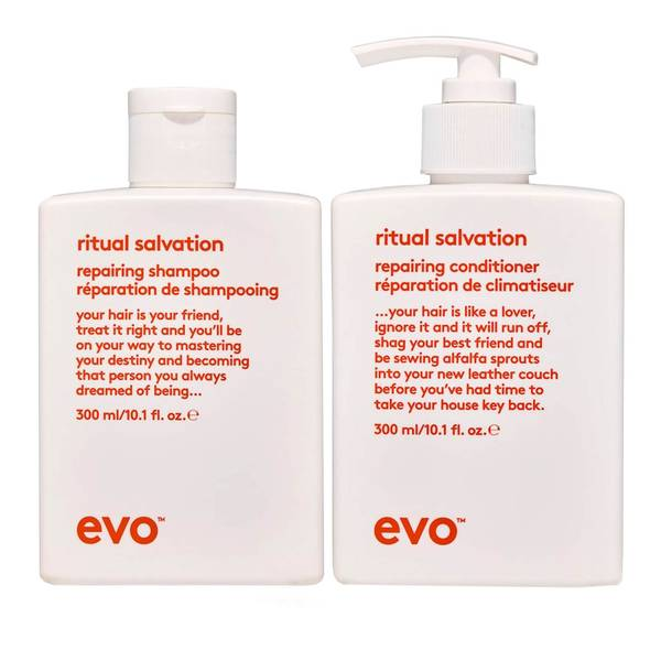 evo Ritual Salvation Repairing Shampoo and Conditioner
