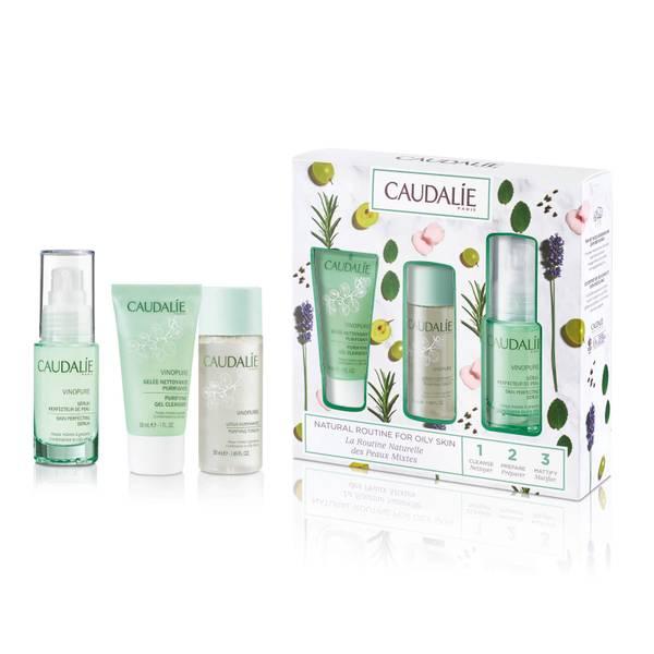 Caudalie Vinopure Natural Routine for Oily Skin Set (Worth $62.00)