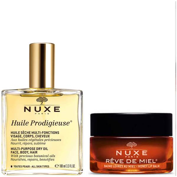 NUXE Exclusive Huile Prodigieuse Oil and Lip Balm Duo