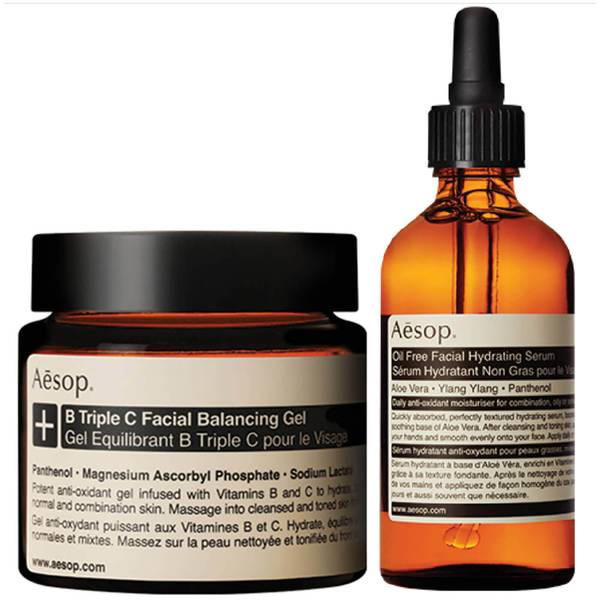 Aesop Lightweight Serum and Facial Balancing Gel Duo