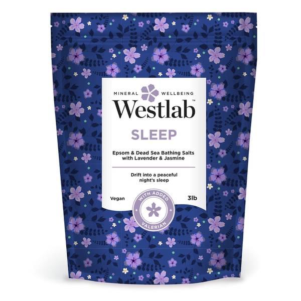 Westlab Sleep Epsom and Dead Sea Bathing Salts with Lavender, Jasmine and Valerian 3lb