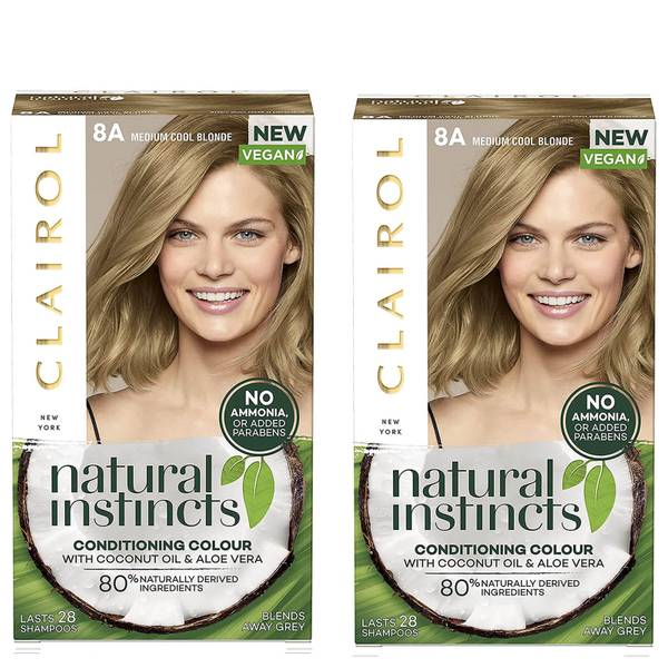 Clairol Natural Instincts Semi-Permanent No Ammonia Vegan Hair Dye Duo (Various Shades)
