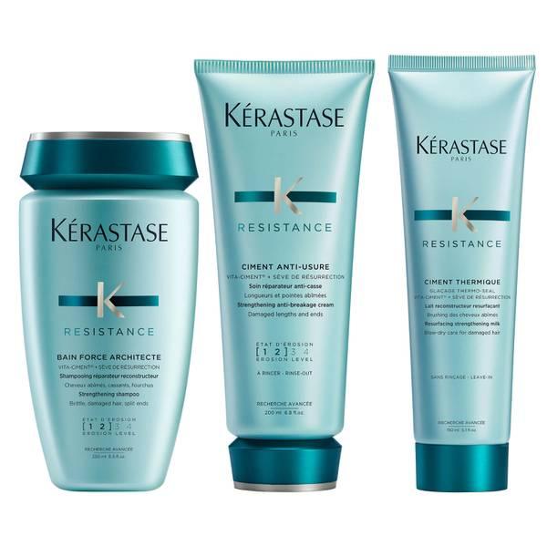 Kérastase Résistance 3 Step Strengthening Routine for Damaged Hair