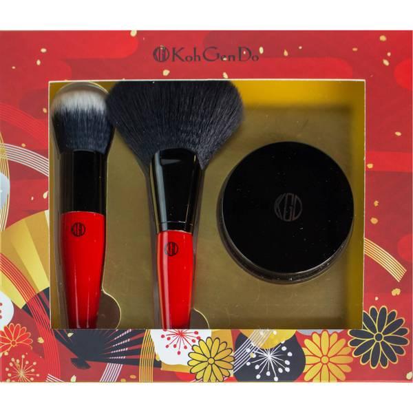 Koh Gen Do Perfect Finish Buffing & Fan Brush, Face Powder (Worth $145.00)