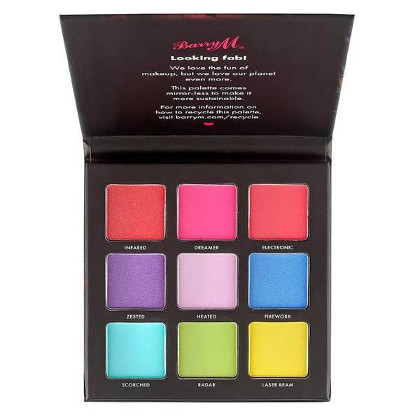 Barry M Cosmetics Eyeshadow Palette - Neon Brights 12.6g