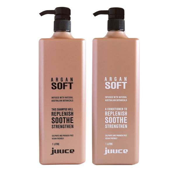 Juuce Argan Soft Shampoo and Conditioner Duo 2 x 1L