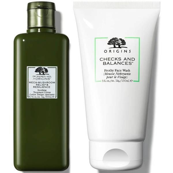 Origins Cheeks and Balances Face Wash and Treatment Lotion Bundle