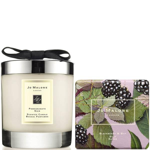 Jo Malone London Pomegranate Noir Candle & Blackberry and Bay Soap Bundle