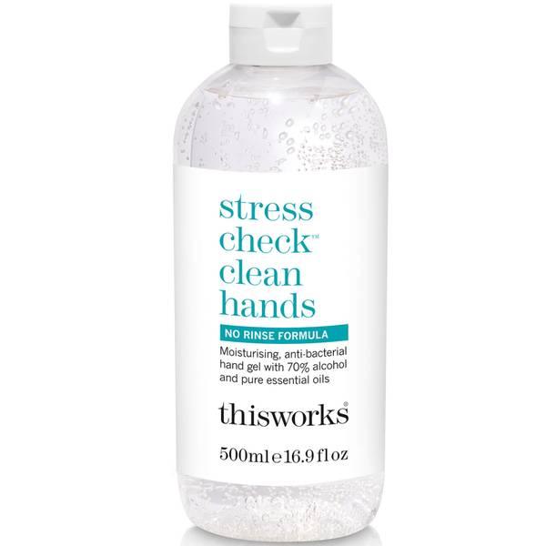 tämä toimii Stress Check Clean Hands Gel 500ml