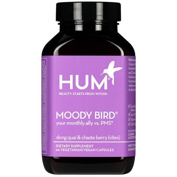 HUM Nutrition Moody Bird PMS Support Supplement (60 Vegan Capsules, 30 Days)
