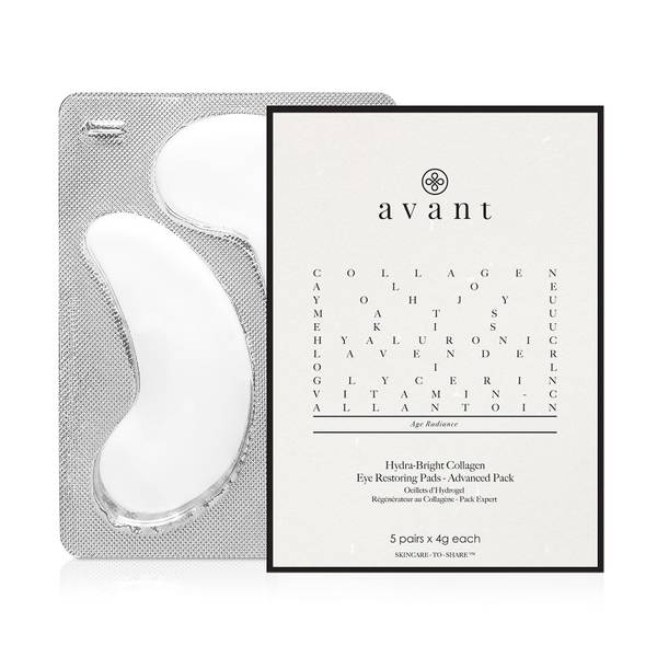 Avant Skincare Advanced Pack Hydra-Bright Collagen Eye Restoring Pads (Pack of 5 Pairs)