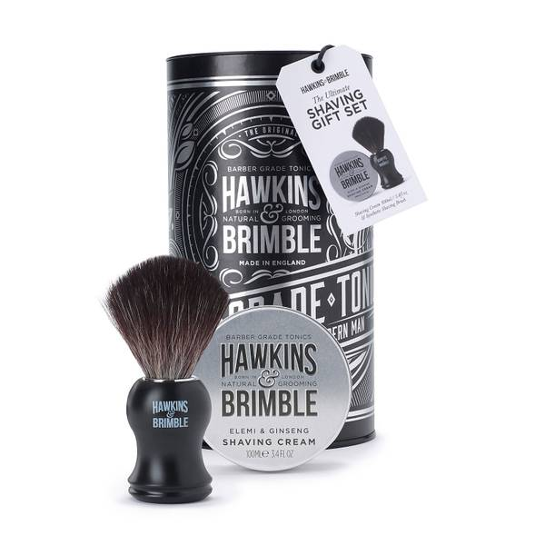 Hawkins & Brimble Shaving Gift Set Silver