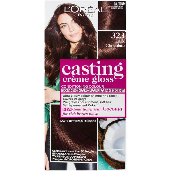L'Oréal Paris Casting Creme Gloss Semi-Permanent Hair Colour - Dark Chocolate 323