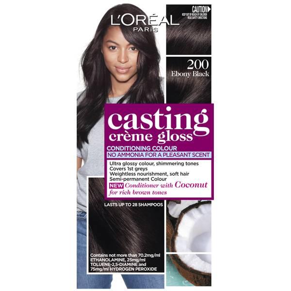 L'Oréal Paris Casting Creme Gloss Semi-Permanent Hair Colour - Ebony Black 200