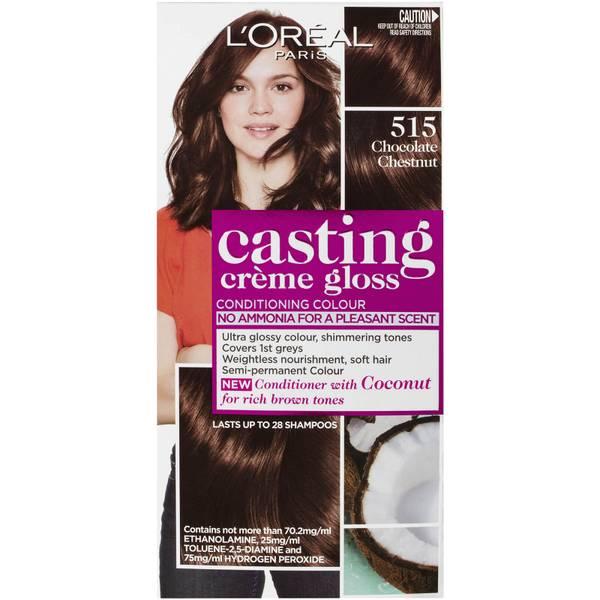 L'Oréal Paris Casting Creme Gloss Semi-Permanent Hair Colour - Chocolate Chestnut 515