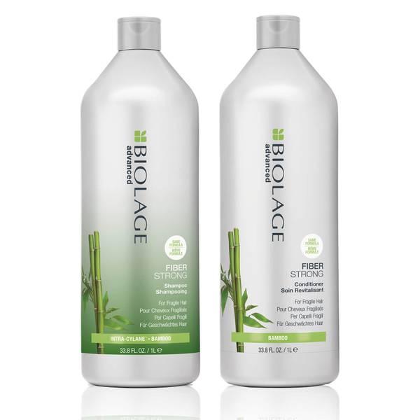 Biolage Advanced FiberStrong Strengthening Duo Litre Set for Fragile Hair