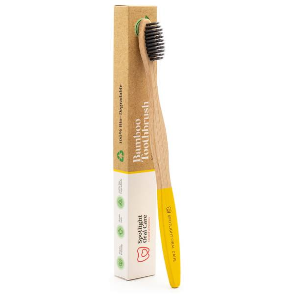 Spotlight Oral Care Bamboo Toothbrush - Yellow