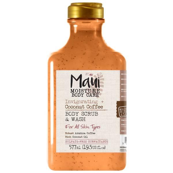 Maui Moisture Invigorating+ Coconut Coffee Body Scrub and Wash 577ml