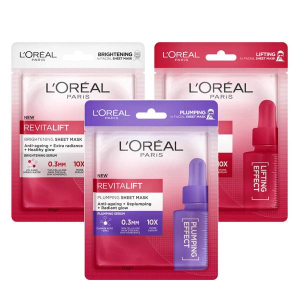 L'Oréal Paris Revitalift Anti-Ageing Sheet Masks (Pack of 3)