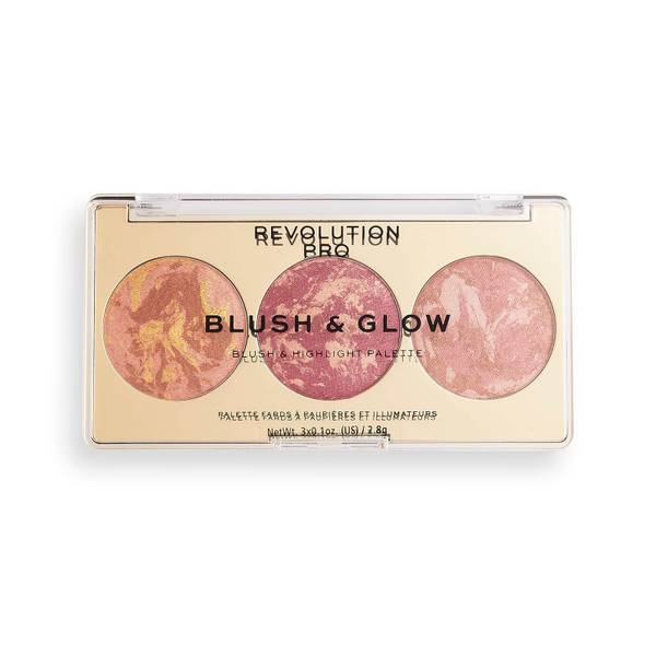 Revolution Pro Blush & Glow Palette - Cranberry Glow 2.8g