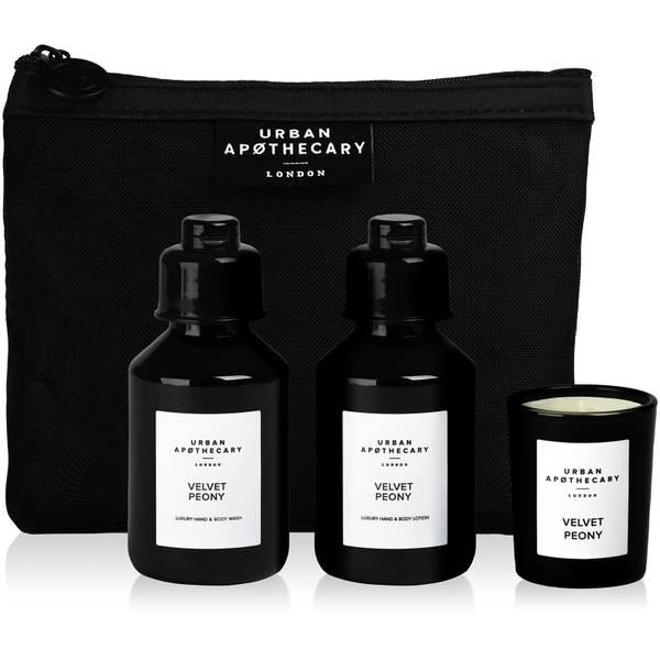 Urban Apothecary Velvet Peony Coffret cadeau de luxe pour le bain et le parfum (3 pièces)
