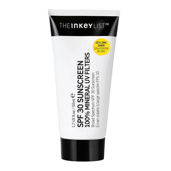 The INKEY List SPF30 Sunscreen 100% Mineral UV Filters 50ml