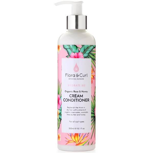Flora & Curl Organic Rose & Honey Cream Conditioner 300ml