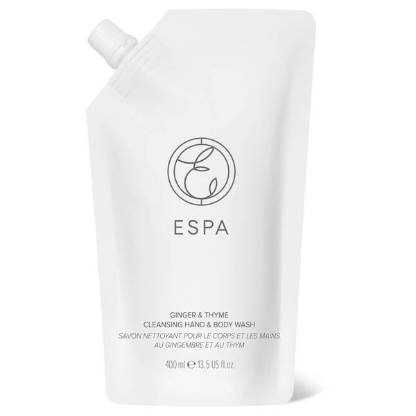 ESPA Essentials Cleansing Hand and Body Wash 400ml - Ginger and Thyme
