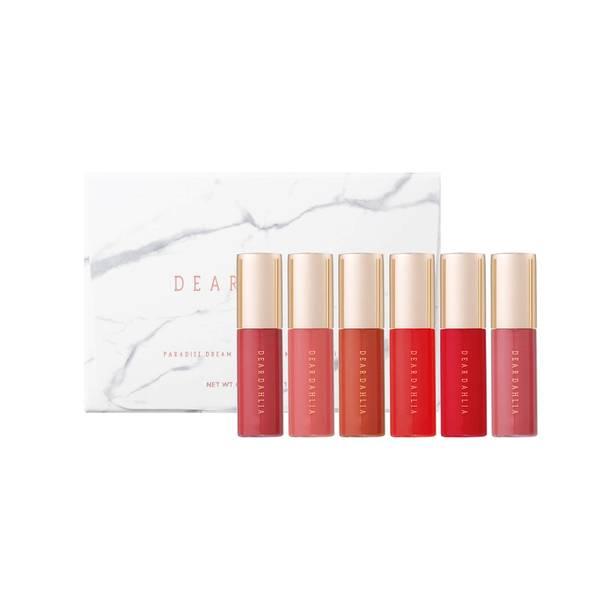 Dear Dahlia Paradise Dream Mini Velvet Lip Mousse 6 Set - Red Collection