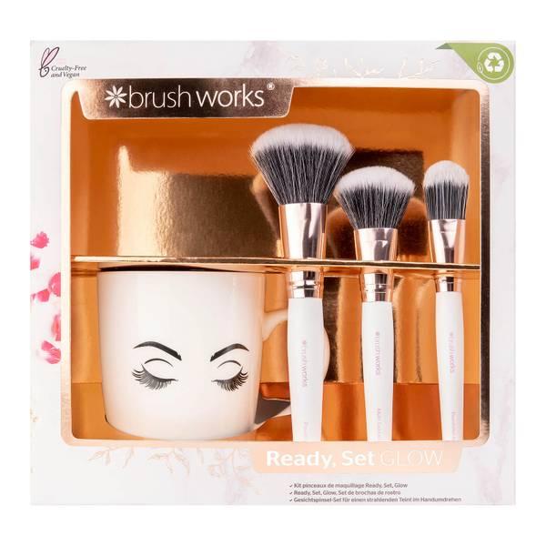 brushworks Ready Set Glow Face Brush Set