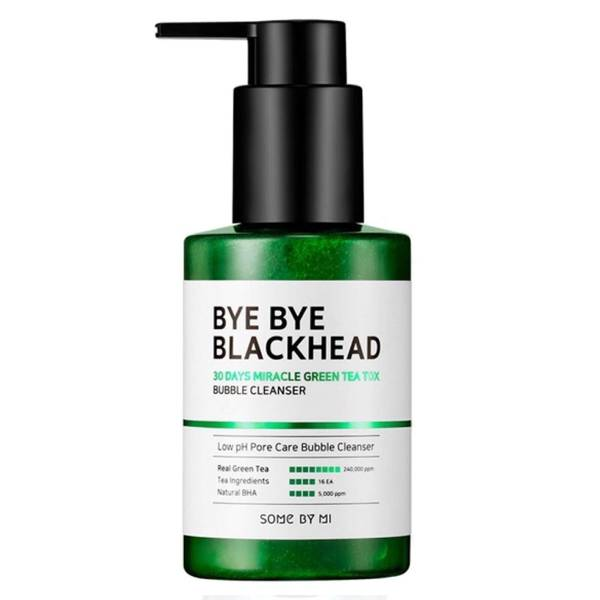 SOME BY MI Miracle Bye Bye 30 Days Blackhead Miracle Green Tea Tox Bubble Cleanser 120g