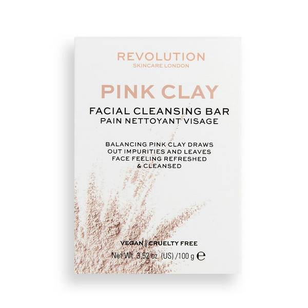 Revolution Skincare Pink Clay Cleansing Bar