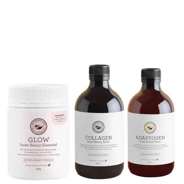 The Beauty Chef Glow, Collagen and Adaptogen Trio (Worth $155.00)