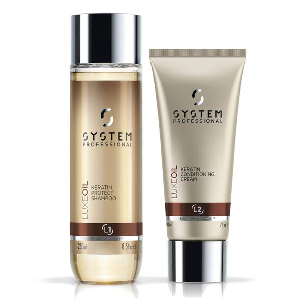 System Professional Luxe Oil Keratin Shampoo and Conditioner