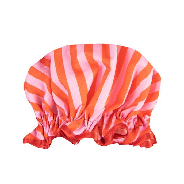 The Vintage Cosmetic Company Candy Striped Shower Cap