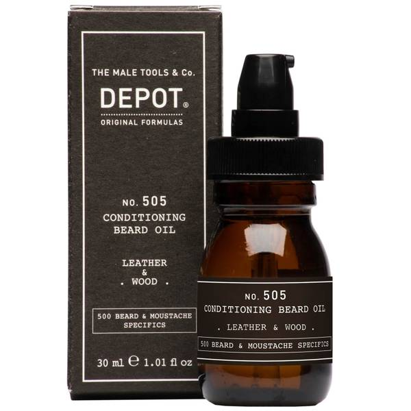 Depot No.505 Leather and Wood Conditioning Beard Oil 30ml