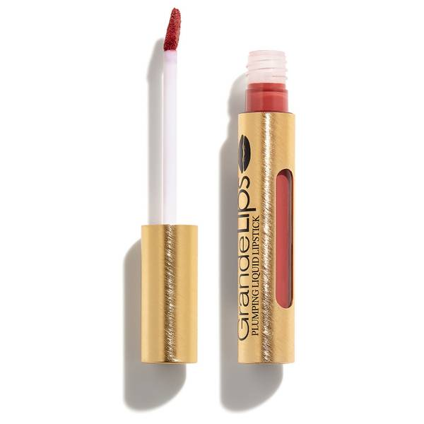 GRANDE Cosmetics GrandeLIPS Plumping Liquid Lipstick Semi-Matte - Strawberry Rhubarb