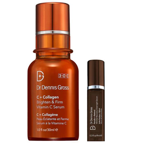 Dr Dennis Gross C+Collegen Bundle and Free Ferulic and Retinol Wrinkle Recovery Overnight DLX Serum 9ml