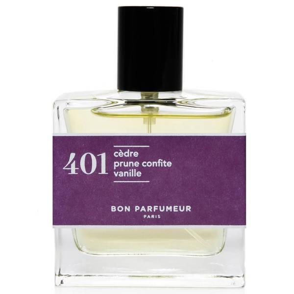 Bon Parfumeur 401 Cedar Candied Plum Vanilla Eau de Parfum (Various Sizes)