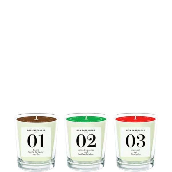Bon Parfumeur Mini Candles Set - 01, 02, 03