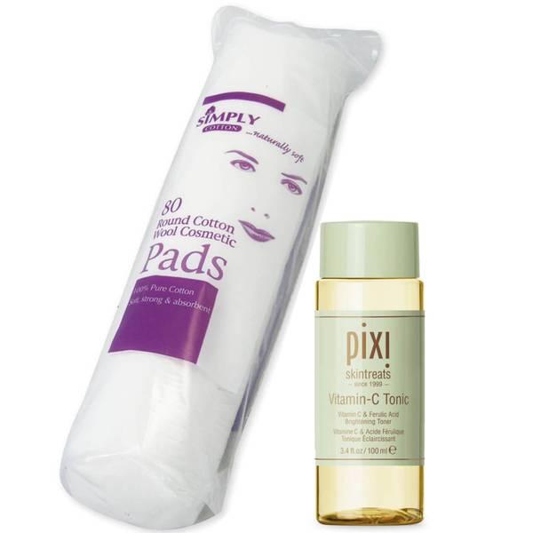 PIXI Vitamin C Tonic 100ml and Cotton Wool Pads Bundle