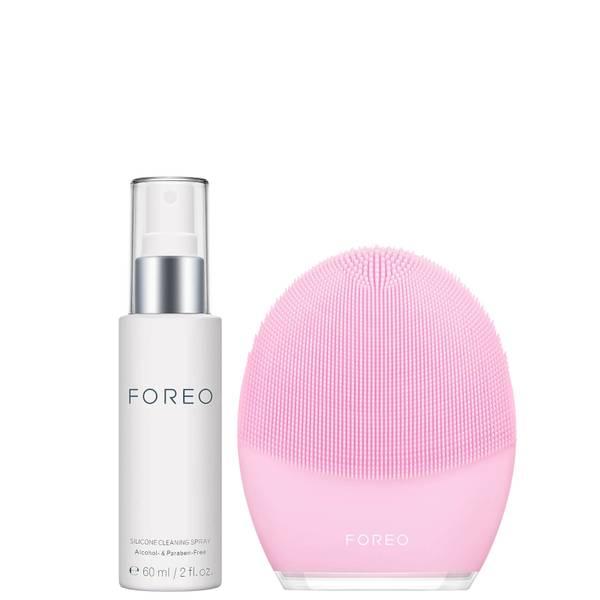 FOREO Luna 3 + Silicone Cleaning Spray Bundle