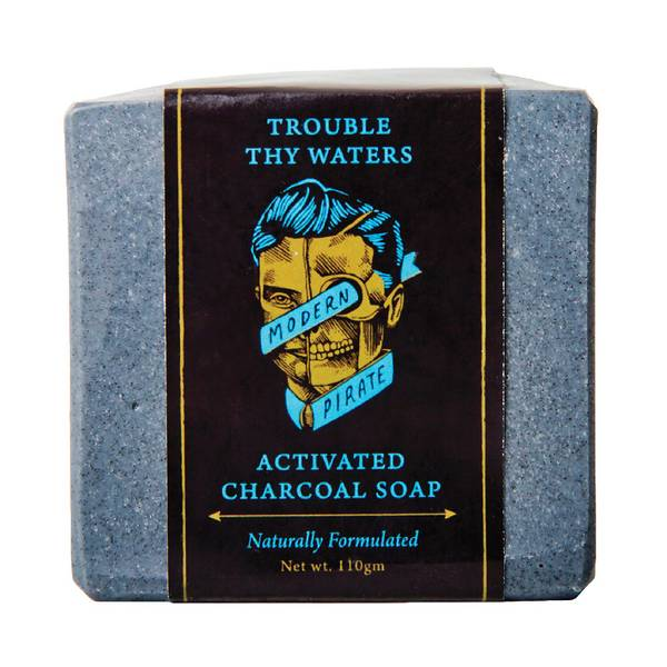Modern Pirate Trouble Thy Waters Activated Charcoal Soap 110g